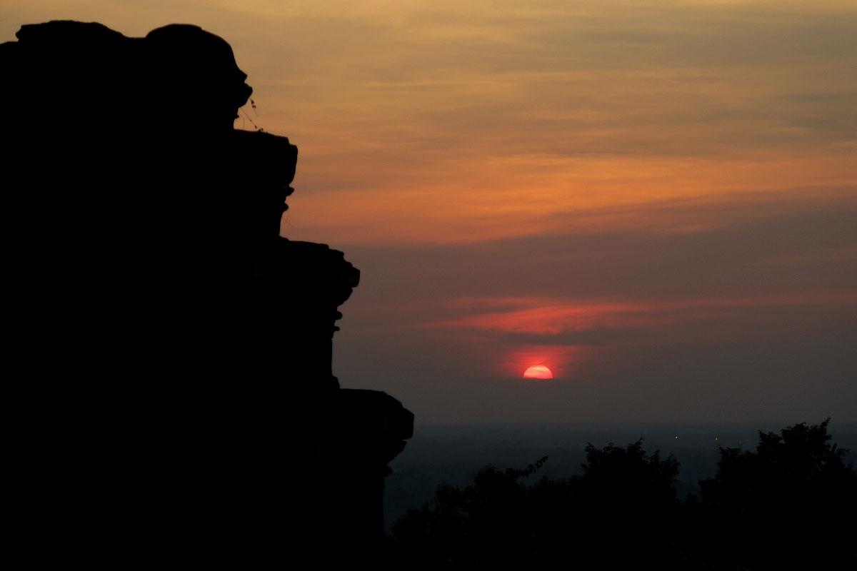 Sonnenuntergang in Angkor